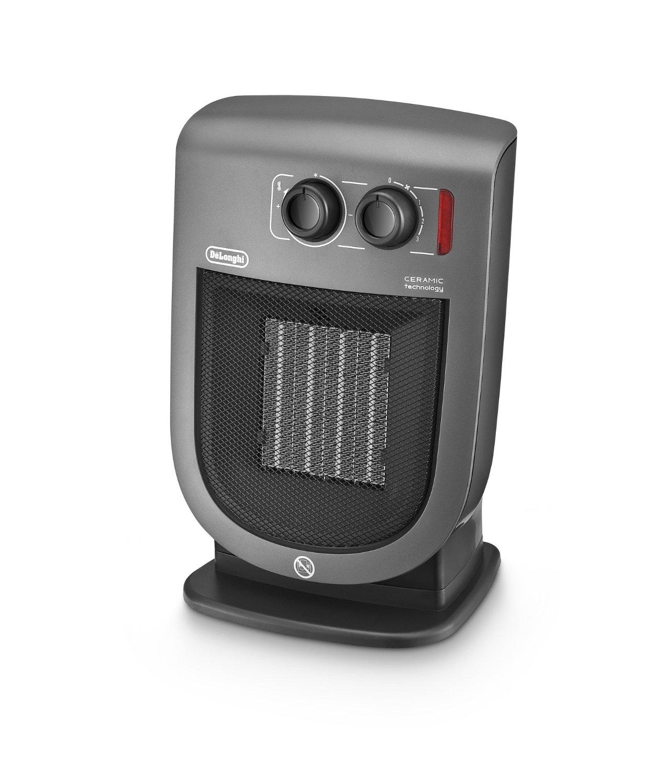 2000w electric ceramic fan heater grey delonghi dch5231 ebay. Black Bedroom Furniture Sets. Home Design Ideas