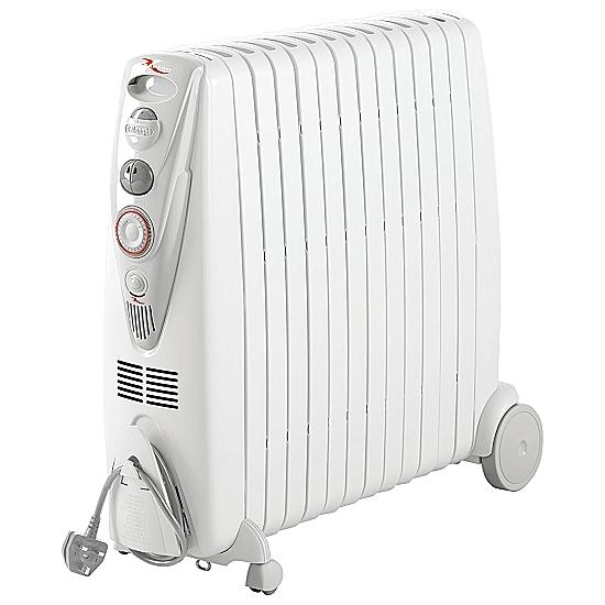 3000w oil filled radiator heater with timer delonghi. Black Bedroom Furniture Sets. Home Design Ideas