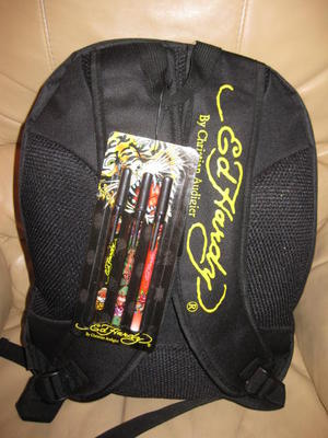 ED HARDY GENUINE BLACK MISHA TIGER BACKPACK SPORTS BAG CHRISTIAN AUDIGIER BNWT