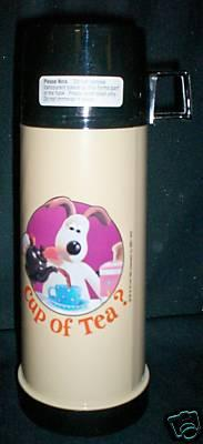 THERMOS FLASK WALLACE & GROMIT NEW RARE TC CHARACTER FILM SHOW PRESENT GIFT