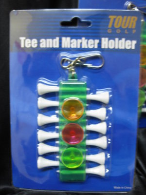 3 X TOUR GOLF TEE AND MARKER HOLDER HANDY PUTTING NEW