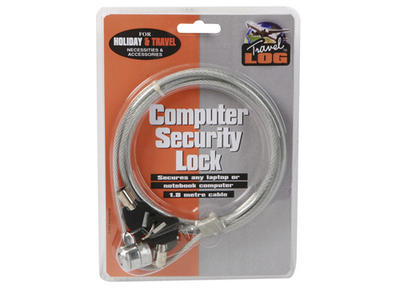 LAPTOP COMPUTER ANTI THEFT SECURITY LOCK 1.8M 2 KEYS OK