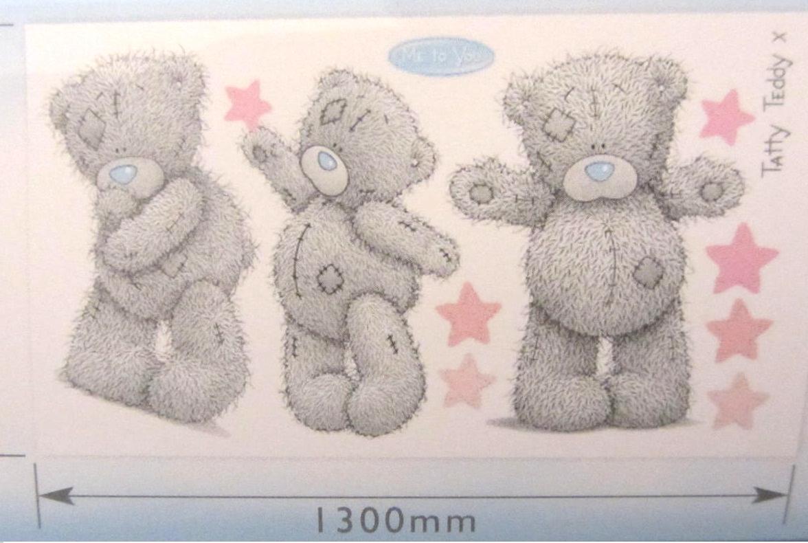 tatty teddy nursery bedroom giant wall stickers me to you tatty teddy big bear kids wall stickers ireland