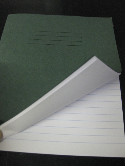 EXERCISE BOOKS 20cm X 16cm 1 RULED PAGE 1 BLANK PAGE GREEN 80 PGS 1-2-10-50-100
