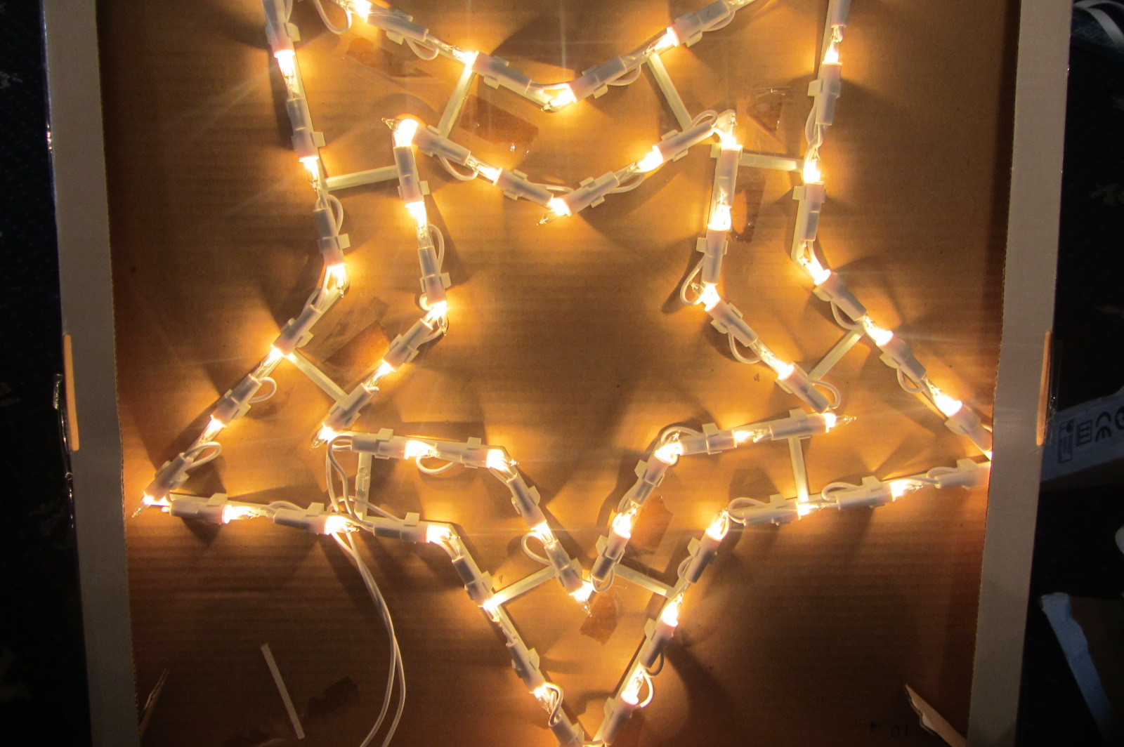 Wall Christmas Lights : INDOOR SILHOUETTE 50 ALL ON LIGHT STAR CHRISTMAS LIGHTS WALL TOP WINDOW C144 eBay