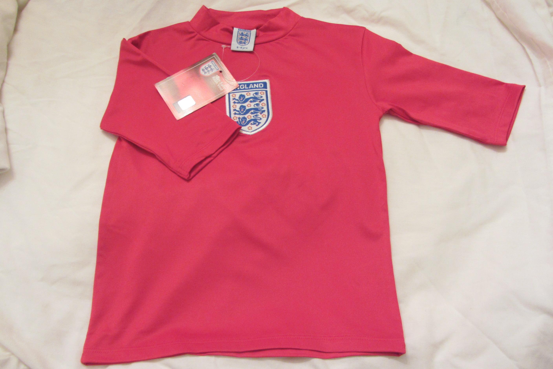 Boys football under shirt sun safe rash vest england white for What is a rash shirt