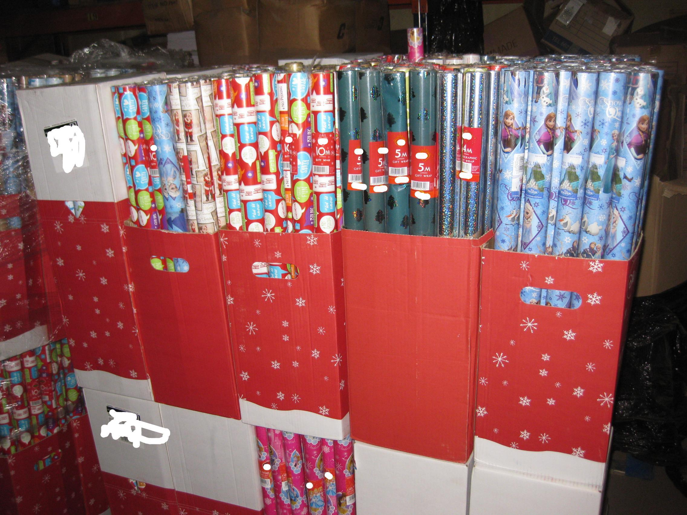 christmas wrapping paper wholesale uk
