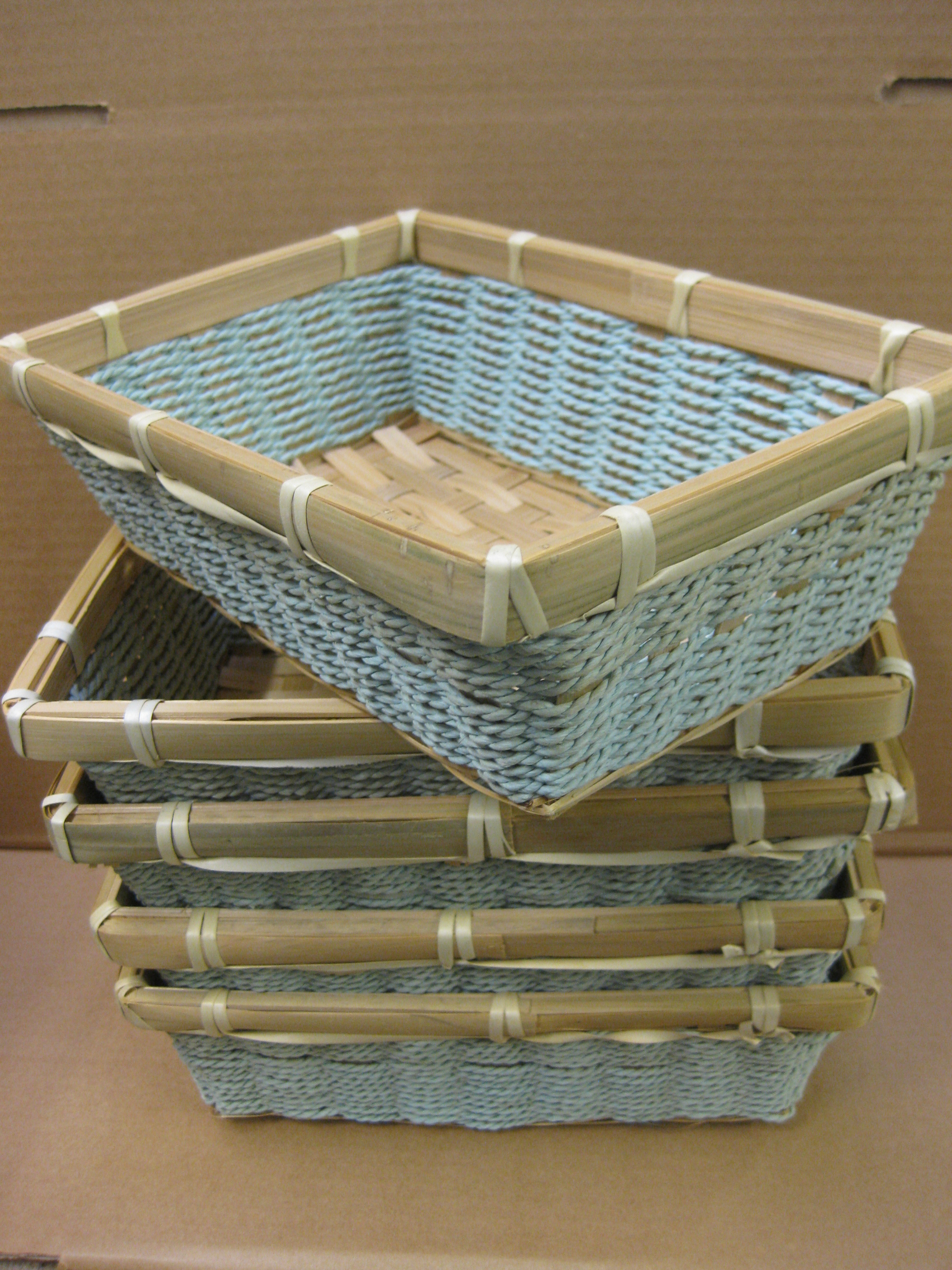 New Kitchen Gift 2 120 Small Aqua Wicker Baskets Gift Table Display Kitchen Home