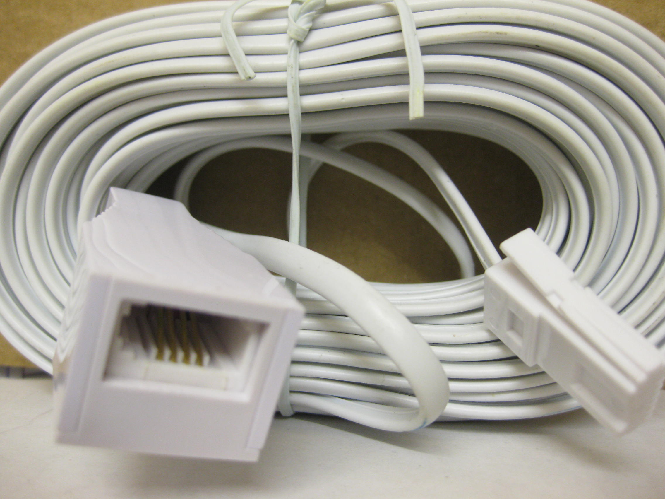 Telephone Extension Leads : Metre bt telephone extension cable phone fax office