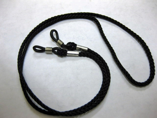 2 x BLACK NECK CORD LANYARD GLASSES STRAP SPECTACLE HOL