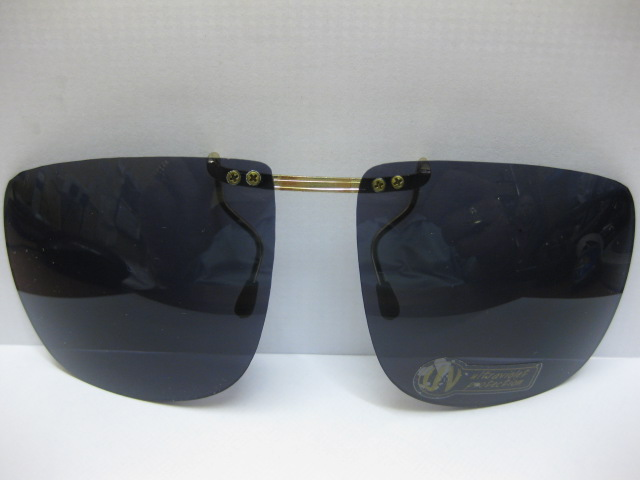 DARK BLACK CLIP ON SUNGLASSES HOLIDAY FISHING S333