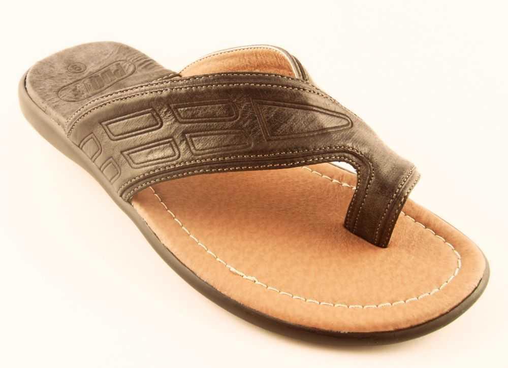 43df8094b8c Boots n Shoes n Stuff - Mens PDQ Toe Loop Sandals Flip Flops Brown 12