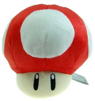 "View Item Super Mario Mushroom 7"" Plush"