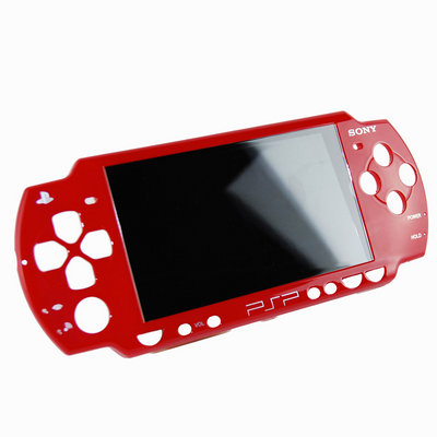 View Item PSP Slim & Lite Official Sony Replacement Faceplate (Red)