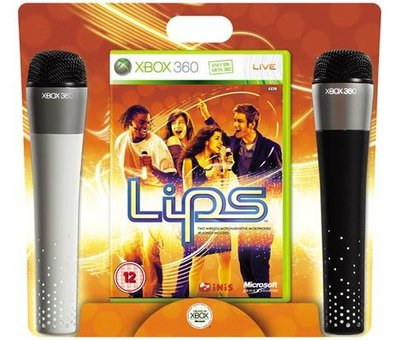 View Item Lips with 2 Wireless Motion Sensing Microphones (Xbox 360)