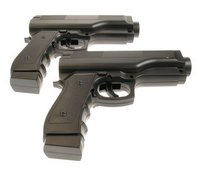 View Item Wii Semi Auto Pistol Light Gun (x 2)