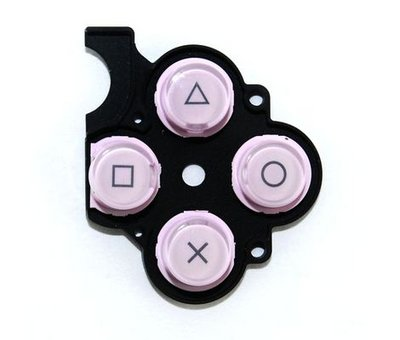 View Item PSP 2000 Slim D-Pad Rubber Buttons (Pink)