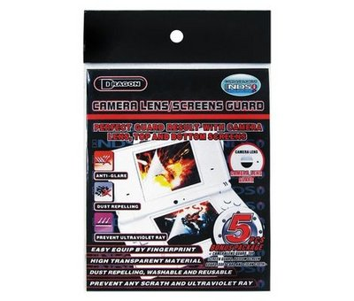View Item DSi Camera Lens Screen Guard