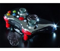 XCM Xbox 360 Chrome Wireless Joypad Shell (with Red LEDs)