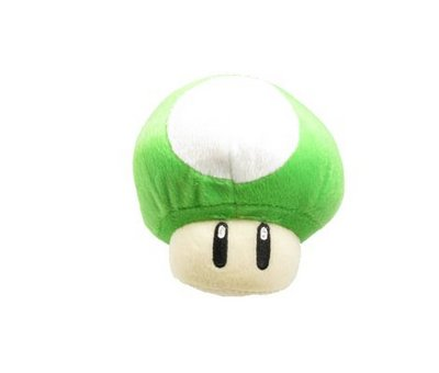 View Item Super Mario 1 UP Green Mushroom Plush