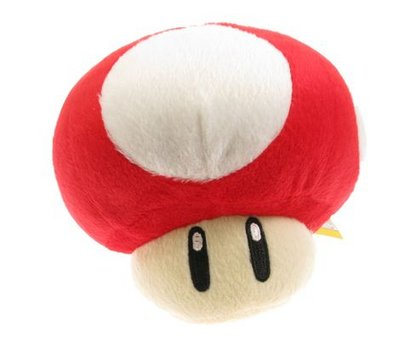 View Item Super Mario Red Mushroom Plush