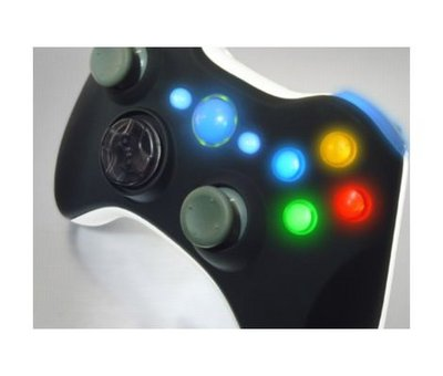 View Item Xbox 360 Wireless Controller Shell (Black Top + White Bottom)