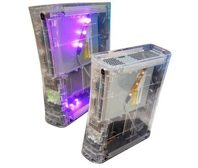 View Item Nexilux Xbox 360 Transparent Clear Case with Smart LEDs