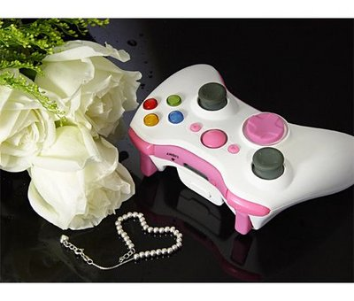 View Item Wireless Xbox 360 Controller Shell with New D-Pad (Pink Lady)