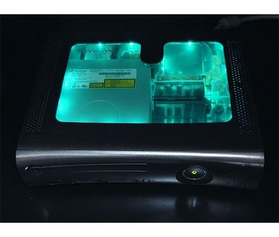 View Item XBOX 360 HDMI Full Case with Black Light in Pre-Cut Window