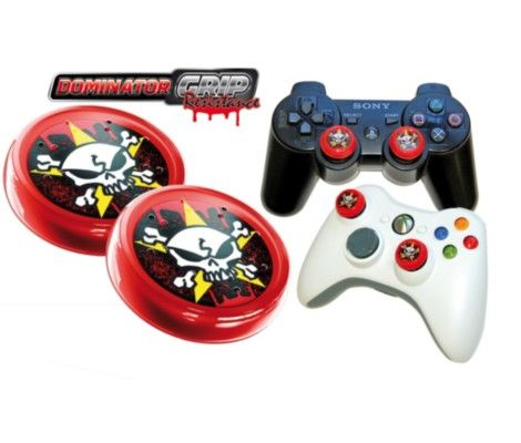 Xbox 360/PS3 Dominator Grip Analog Cap (Red) Preview