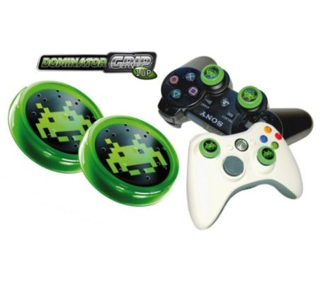 Xbox 360/PS3 Dominator Grip Analog Cap (Green) Preview