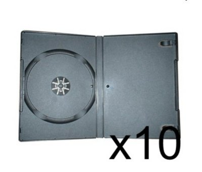 View Item 10 x DVD CaseS 7MM Black