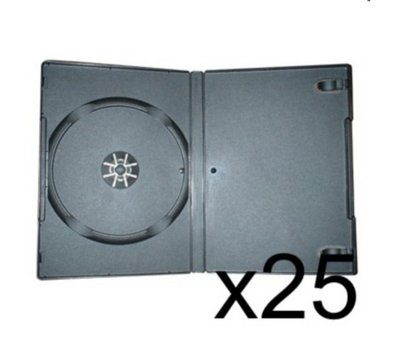 View Item 25 x DVD Case 7MM Black