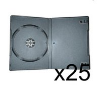 25 x DVD Case 7MM Black