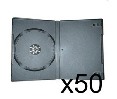 View Item 50 x DVD Case 7MM Black