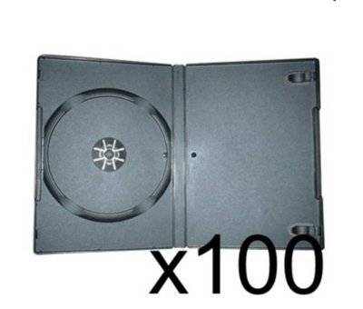 View Item 100 x DVD Case 7MM Black