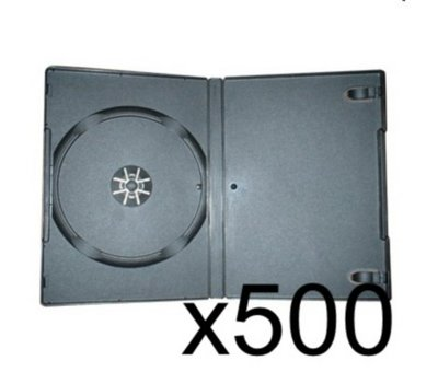 View Item 500 x DVD Case 7MM Black