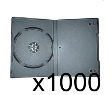 1000 x DVD Case 7MM Black Preview