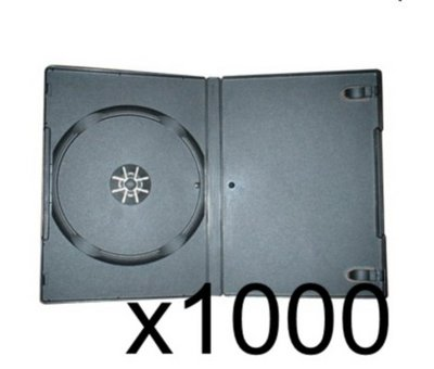 View Item 1000 x DVD Case 7MM Black