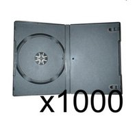 1000 x DVD Case 7MM Black