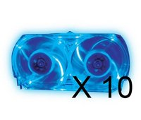 Xbox 360 Talismoon Blue Whisper Fan Bundle of 10