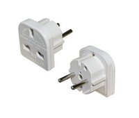 European Travel Adapter Plug (3 pin to 2 pin)