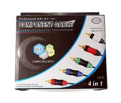 View Item Wii/360/PS2/PS3 4 in 1 Component Cable