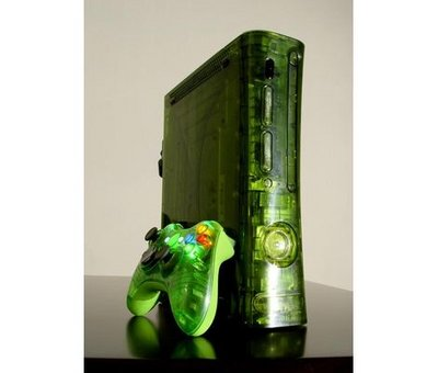 View Item Xbox 360 Full Case with Controller Shell (Halo Green)
