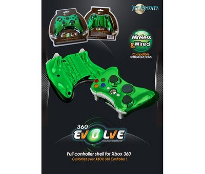 View Item Xbox 360 Evolve Full Controller Shell (Chrome Green)