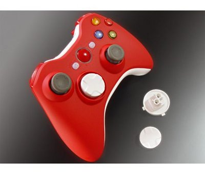 View Item Xbox XCM 360 Wireless Controller Shell with Deep D-Pad (Red)