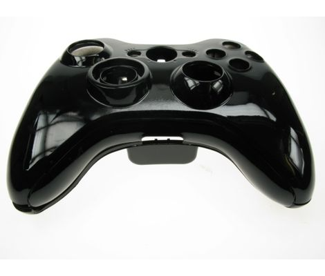 Xbox 360 Black Replacement Wireless Controller Shell Preview