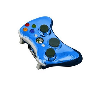 View Item Xbox 360 Full Wireless Controller Shell (Chrome Blue)