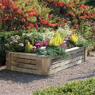 Raised Bed Planter 6x3 Timber Wood Heavy Duty Pressure Treated Garden Grow New Ebay