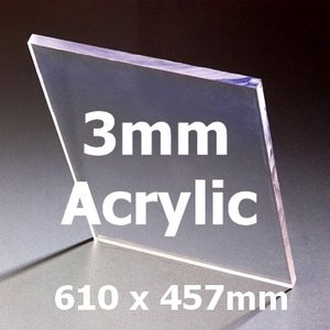 "24"" x 18"" 3mm Acrylic Greenhouse Glass (610 x 457mm) Preview"